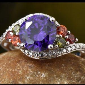 Jewelry - Ring: Simulated Purple Diamond & Multi gemstone.